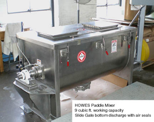 Used Howes Paddle Mixer, 9 cu. ft. capacity