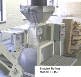 Used SR-150 150mm Simplex Refiner
